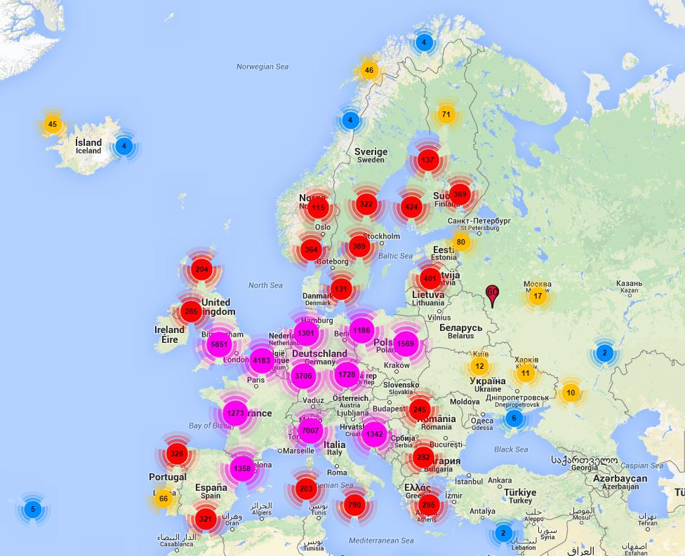 Fotobokser i hele Europa